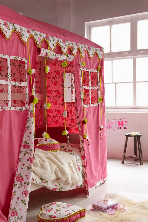 600x902px 4 Unique Girls Canopy Bed Curtains Picture in Bedroom